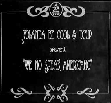 we no speak
